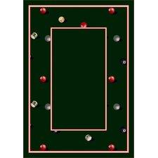 Design Center Emerald Billiards Area Rug