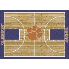 College Court Clemson Tigers Rug