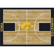 College Court Iowa Hawkeyes Rug