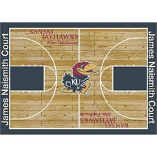 NCAA Court Kansas Novelty Rug
