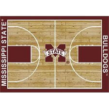 NCAA Court Mississippi State Novelty Rug