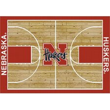 College Court Nebraska Cornhuskers Rug