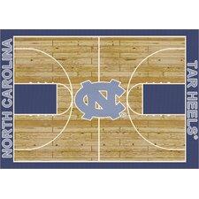 College Court North Carolina Tar Heels Rug