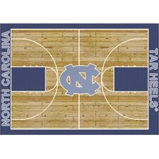 NCAA Court North Carolina Novelty Rug