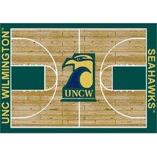 College Court North Carolina Wilmington Seahawks Rug