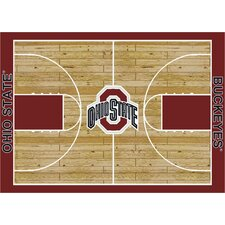 College Court Ohio State Buckeyes Rug