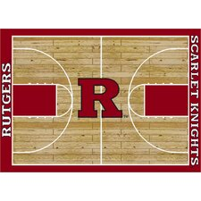 College Court Rutgers Scarlet Knights Rug