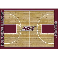 College Court NCAA Southern Illinois Novelty Rug