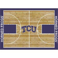 NCAA Court TCU Novelty Rug