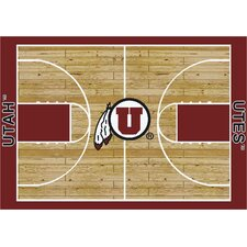 College Court NCAA Utah Novelty Rug