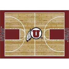 College Court Utah Utes Rug