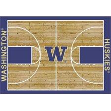 College Court Washington Huskies Rug