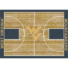 College Court NCAA West Virginia Novelty Rug
