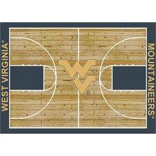 College Court West Virginia Mountaineers Rug