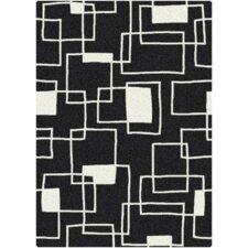 Offbeat  Box Black/White Area Rug