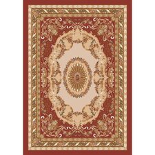Pastiche Kashmiran Marquette Burnt Brick Red Area  Rug