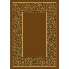 Design Center Nutmeg Latin Rose Area Rug