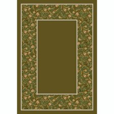 Design Center Tobacco Latin Rose Area Rug