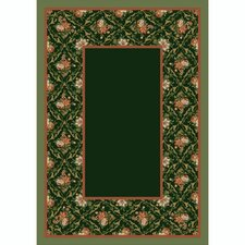 Design Center Olive Bouquet Lace Area Rug