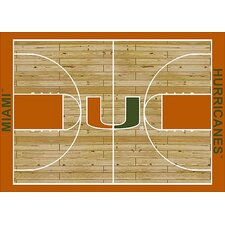 College Court NCAA Miami Novelty Rug