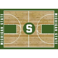 College Court NCAA Michigan State Novelty Rug