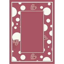 Activity Sweetheart Border Red Area Rug