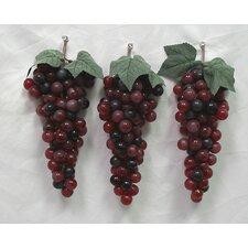3 Piece Soft Touch Faux Grape (Set of 3)