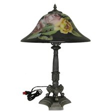 "Flower 16"" H Table Lamp with Bell Shade"