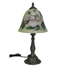 "Flower 10"" H Table Lamp with Bell Shade"