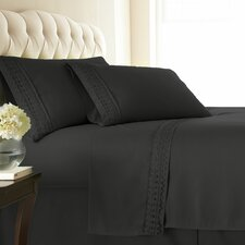 110 GSM Premium Collection 4-Piece Sheet Set with Lace