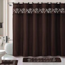 Leaves 15 Piece Shower Curtain Set