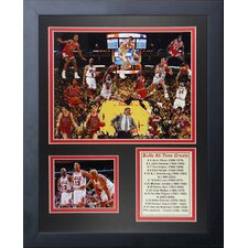 Chicago Bulls All Time Greats Framed Memorabilia