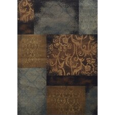 Morgan Floral Impressions Blue/Brown Area Rug
