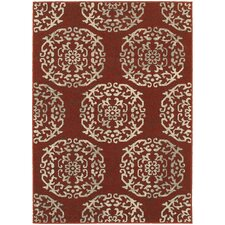 Harmony Red/Beige Indoor Area Rug