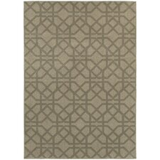 Harmony Gray/Beige Lattice Indoor Area Rug