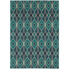 Harmony Blue/Teal Indoor Area Rug