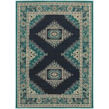 Harmony Blue/Ivory Indoor Area Rug