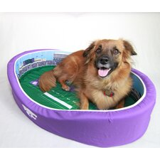 NCAA Football Dog Bed