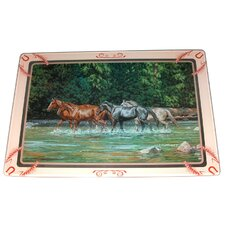 Horses Tempered Glass Cutting Board