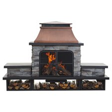 Connan Steel Wood Outdoor Fireplace