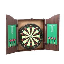 TGT Dartboard Cabinet Set in Realistic Walnut