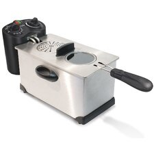3.3 Liter Stainless Steel Immersion Deep Fryer with Temperature and Timer Controls
