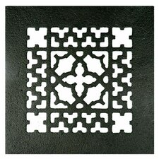 "6"" x 6"" Cast Iron Grille in Black"