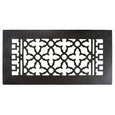 "6"" x 14"" Cast Iron Grille in Black"