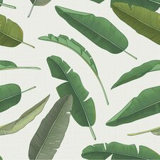 "Banana Leaf 8' x 20"" Removable Wallpaper"