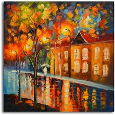 'Reflections in Night's Colors' Original Painting on Canvas