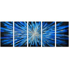 5 Piece Blue Brilliance Wall Décor Set (Set of 5)