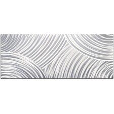 Whirling Pencil Grey Wall Décor