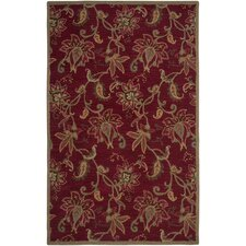 Ashlyn Red Floral Area Rug