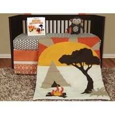 African Dream 6 Piece Crib Bedding Set with Storybook